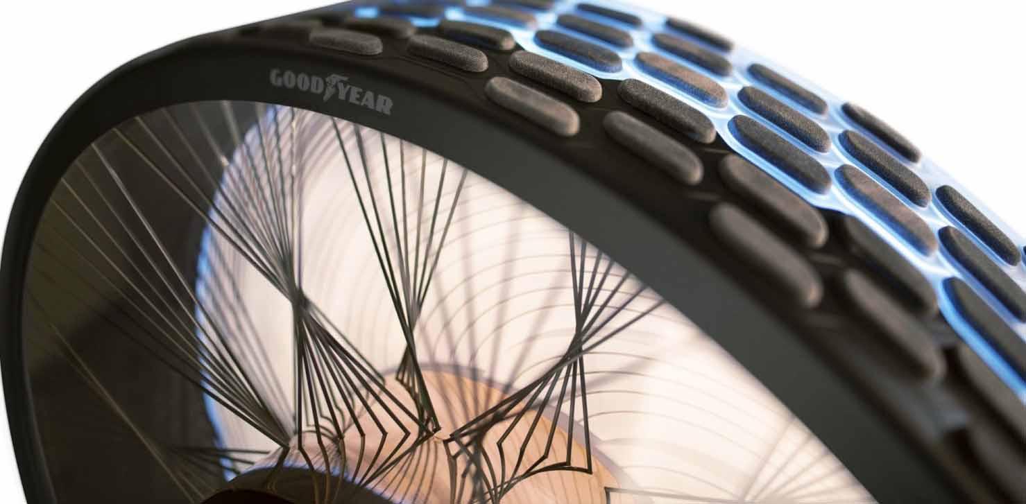 Концептуальная шина Goodyear. Как reCharge восстанавливает протектор