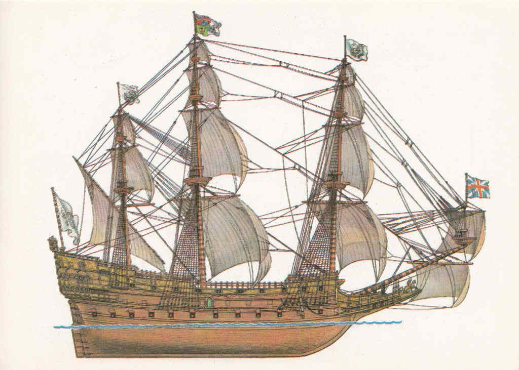 sovereign of the seas, английский флот, боевое судно