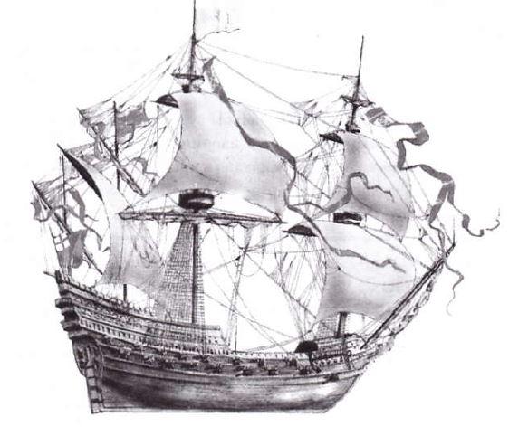 корабль triumph, непобедимая армада, боевое судно