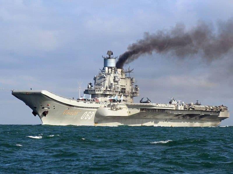Единственный авианосец российского Военно-морского флота - «Адмирал Кузнецов» отмечает юбилей