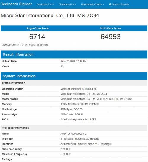 AMD Ryzen 3000 Intel Core процессор разгон
