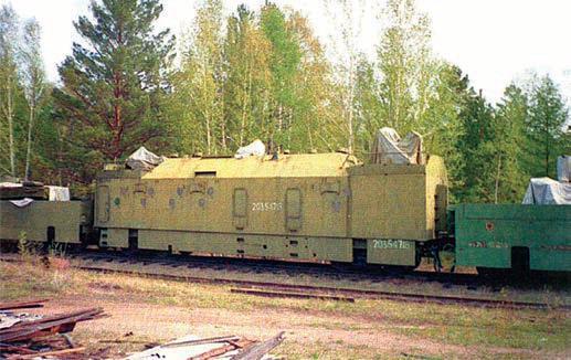 Штабной броневагон, из которого осуществлялось управление действиями бронепоезда БП-1