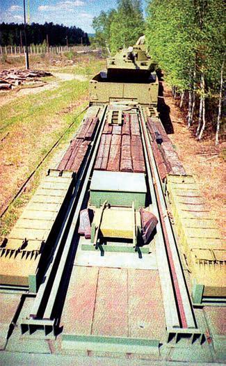 Платформа для перевозки двух БТР-40 ЖД