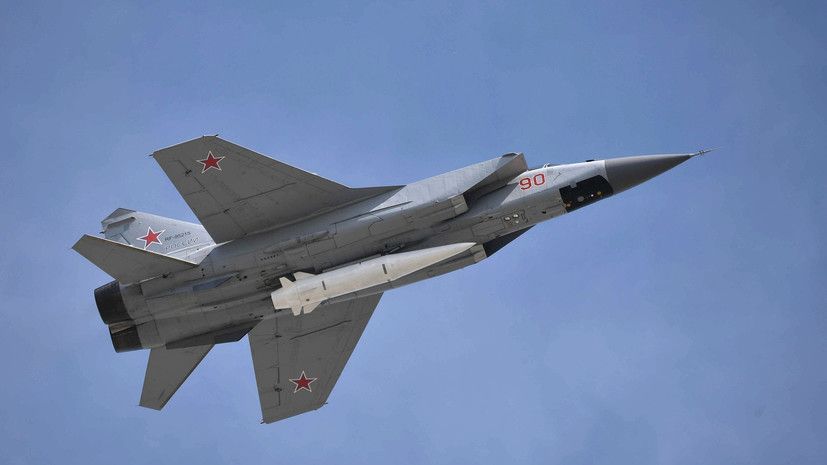 MiG-31 equipped with Kinzhal missile