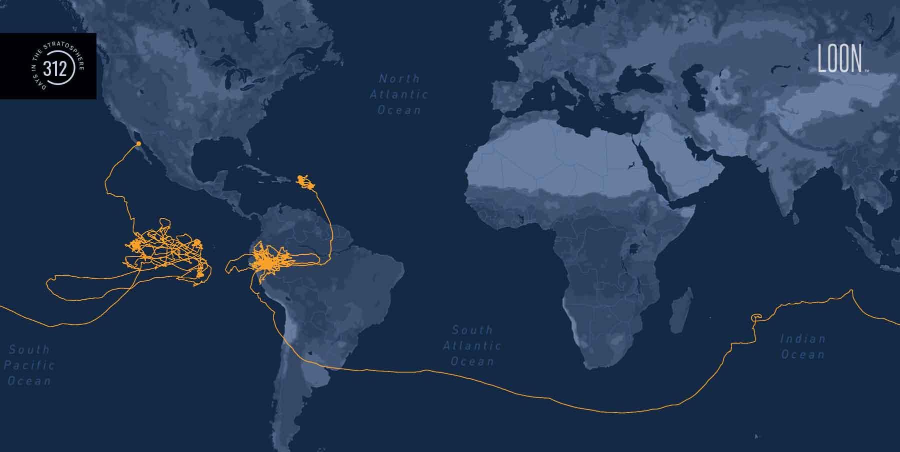 Воздушный шар Google раздает интернет. Рекорд в стратосфере