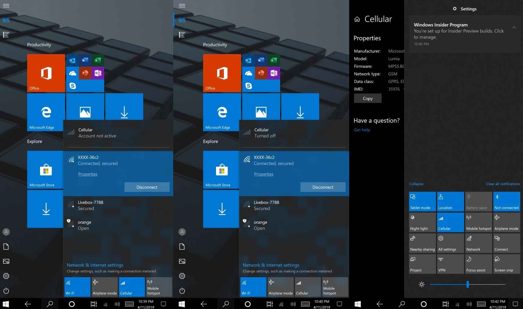 Windows 10, ARM, Lumia 950XL, Microsoft, Wi-Fi