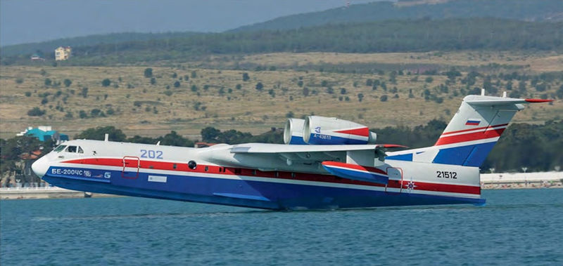 Бе-200 прилетели в Турцию тушить пожары