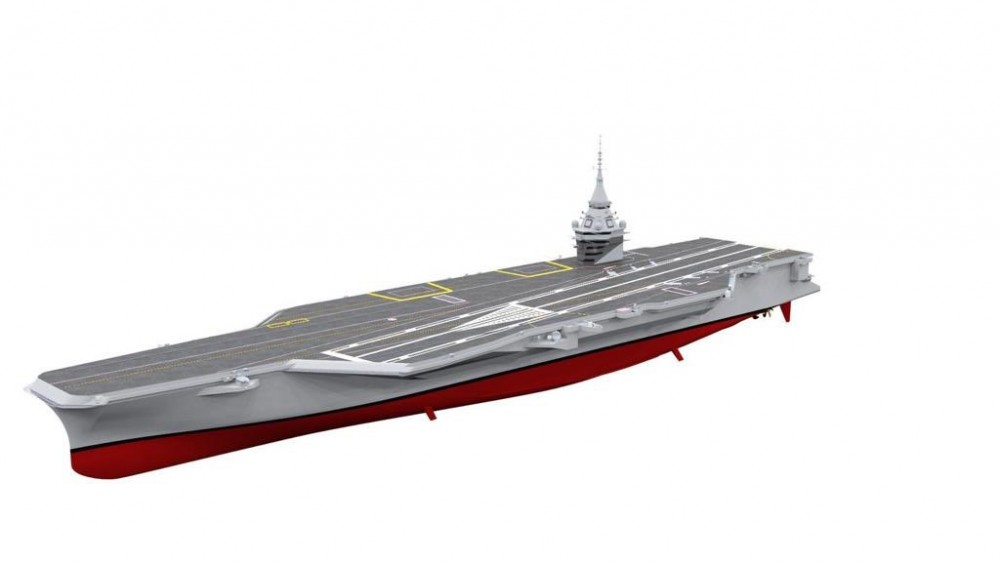 frence new aircraft carrier