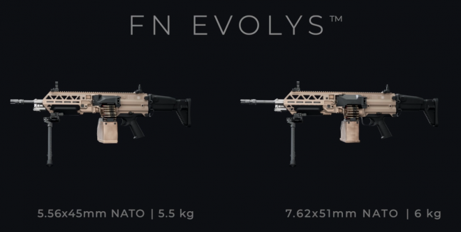 Evolys are two versions, differing in firepower and dimensions.