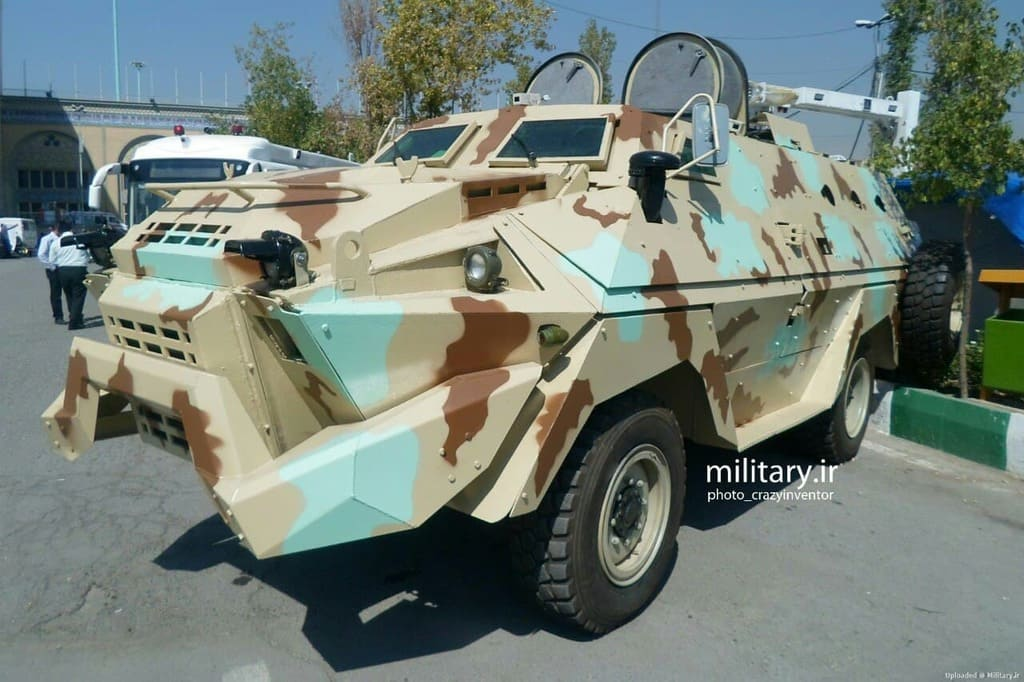 Iranian wheeled armored personnel carrier KIA