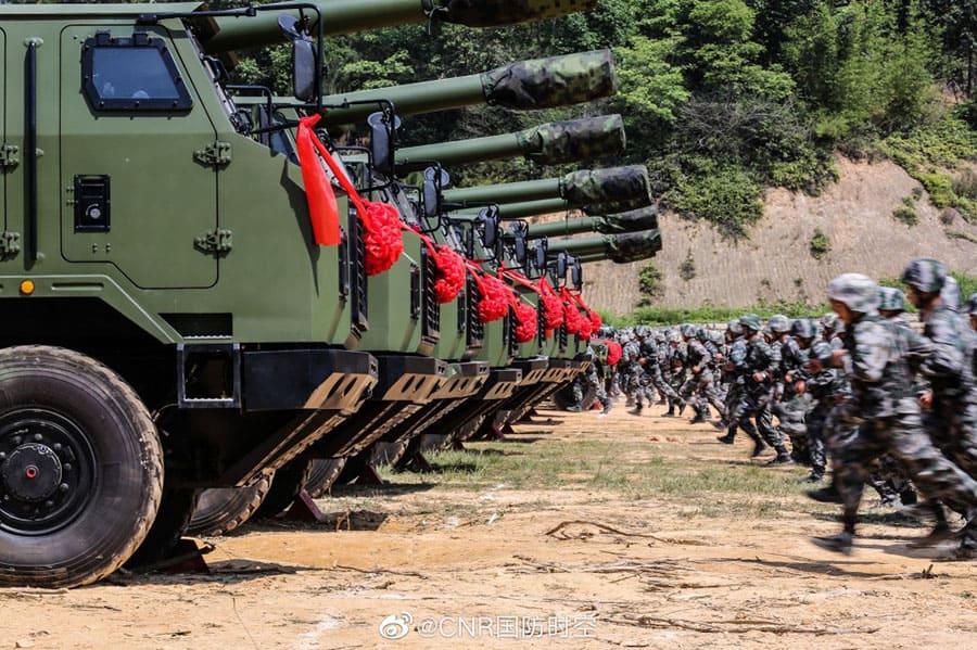 2 plc 181 Китайская народная армия получила на вооружение первую партию новейших самоходных гаубиц PLC-181