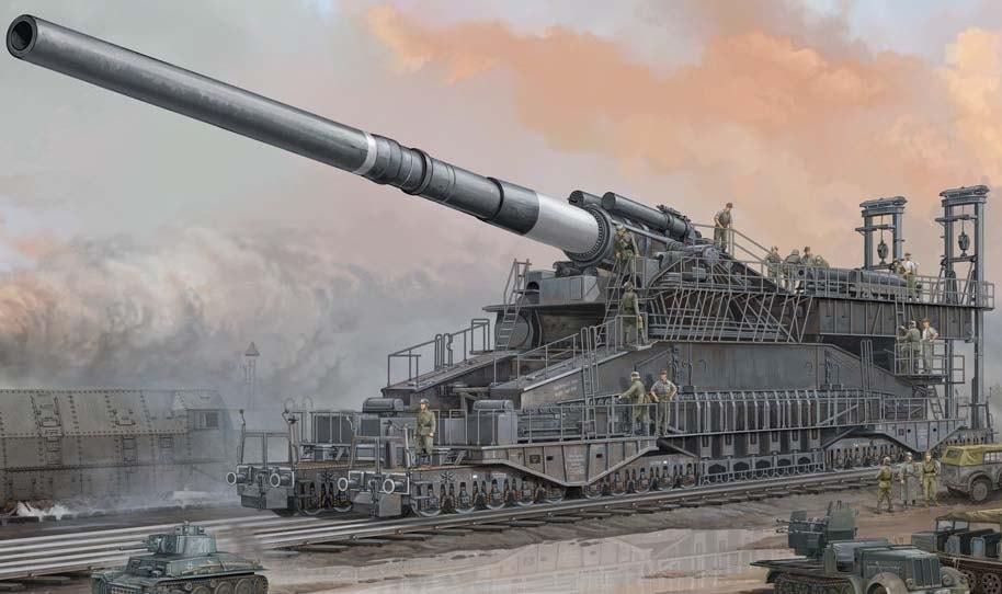 Немецкая артиллерийская система «Дора». Обстрел Севастополя